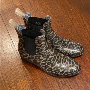 Sam Edelman Leopard Rain Boots